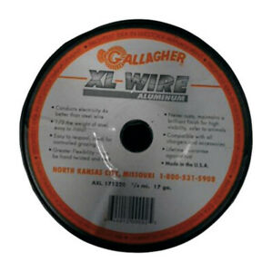 Gallagher 17 Gauge Aluminum 1 4 Mi Electric Fence Wire 1320 Ft Silver