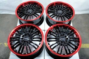16 Wheels Toyota Avalon Camry Celica Corolla Prius Civic Accord Red Black Rims