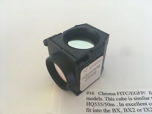 Chroma Fitc egfp Filter Set 41001 In Olympus U ff Cube Bx63 Bx43 Bx53 Ix3