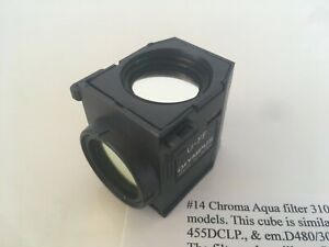 Chroma Aqua Filter 31036v2 In Olympus Filter Cube U ff For Bx63 Bx43 Bx53 Ix3