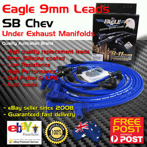 Eagle 9mm Ignition Spark Plug Leads Wires Sb Chev 283 350 400 Under Exhaust