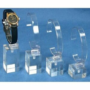 12 Sets Of 4 Watch Stands Acrylic Showcase Riser Jewelry Display