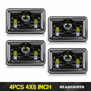 4pcs 4x6 Led Headlight For Freightliner Kenworth T800 T400 W900 T600a Truck Gmc