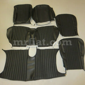 Fiat Dino Spider 2000 1st Series Complete Black Seat Cover Set 1967 69 New