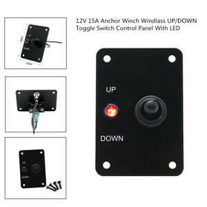 12v 15a Red Led Anchor Winch Windlass Safety Up down Toggle Switch Control Panel