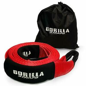 Heavy Duty Recovery Tow Strap 3 X 20ft 30 000lb Strength With Reinforced Loops