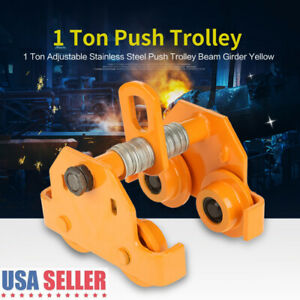 1 Ton Steel I beam Push Beam Track Roller Trolley Beam Girder Precision Tool Us