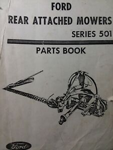 Ford 501 3 point Side Mounted Tractor Implement Sickle Mower Parts Manual