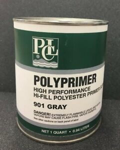 1 Quart Polyester Primer Surfacer With Hardner Pcl Auto Paint Grey 901 Boat