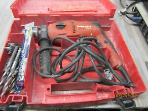Hilti Uh650 1 2 Corded Hammer Drill With Case And Drill Bits
