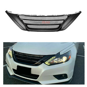 Gloss Black Front Bumper Mesh Grill Grille Trim For Nissan Teana Altima 2016 18