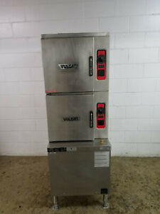 Vulcan C24ga10 10 Pan Convection Steamer Oven Nat Gas 120 Volts 1 Phase Tested