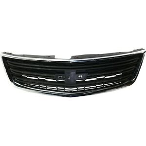 Grille For 2013 2017 Chevrolet Traverse With Chrome Molding Dark Gray Plastic