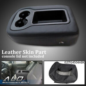 Armrest Console Jump Seat Cover Top For 2007 2013 Silverado Tahoe Sierra Black