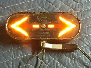 Early Dietz Double Turn Signal Lamp Arrow Truck Pickup Motorcycle Auto Light Old