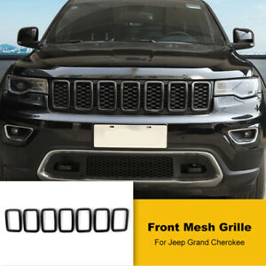 Black Car Front Grille Insert Ring Trim For Jeep Grand Cherokee 17 Accessories