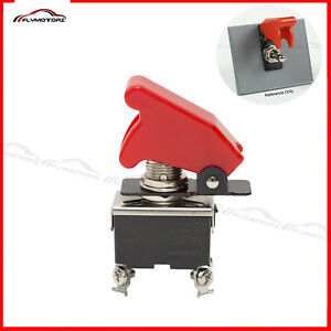 Heavy Duty 20a 125vac On off Dpst 2 Position Toggle Switch W Flip Safety Cover