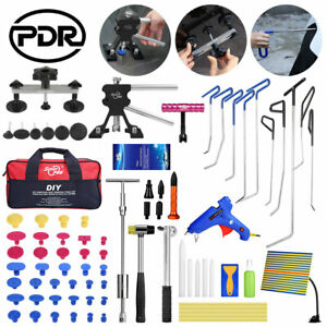 Us 109pc Pdr Tools Push Rods Puller Dent Lifter Paintlss Hail Repair Removal Kit