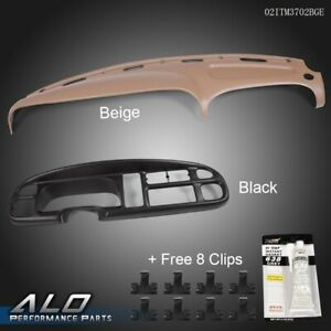For 98 02 Dodge Ram Pickup Pp Dash Bezel Dashboard Cover Overlay W Clips