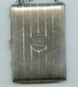 Antique Vintage Sterling Silver Ladies Dance Coin Purse W Compact Mirror 177 G