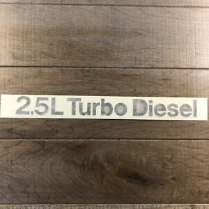 Black 2 5l Turbo Diesel Sticker Decal Transfer For Car Truck Tractor