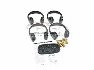 Tahoe Suburban Yukon Escalade Wireless Headphones Kit W Dvd Remote 4pc New Oem