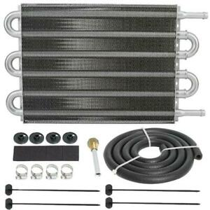 Heavy Duty Aluminum 6 Row Trans Mission Oil Cooler High Performance Tow Ing Kit