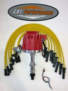 Pontiac 301 326 350 389 400 421 428 455 Red Hei Distributor Yellow 8mm Wires