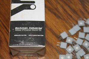 Box Of 100 Beckman Ind 72xr50 50 Ohm Potentimeters Trim Pot 1 Turns variable