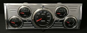 1941 1942 1943 1944 1945 1946 Chevy Truck 5 Gauge Gps Dash Cluster Black