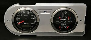 1948 1949 1950 Ford Truck Gps Gauge Dash Cluster Quad Black