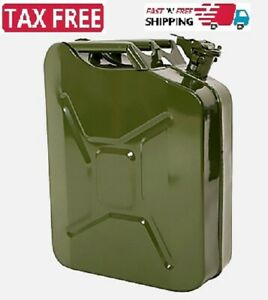 Jerry Can 5 Gallon 20l Gas Gasoline Fuel Army Nato Military Metal Steel Tank New
