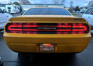 Luxe Dark Smoke Tint For 2008 2014 Dodge Challenger Tail Light W Install Kit