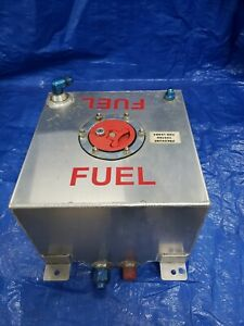 Aluminum Fuel Cell 5 Gallon 12 X 12 X 8 With Mounts And Fitting Used