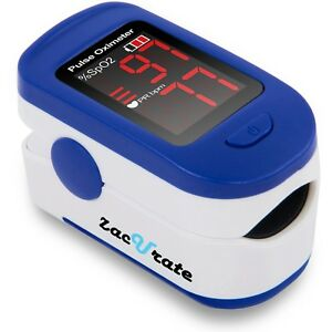Zacurate 500bl Series Fingertip Pulse Oximeter Blood Oxygen Monitor Spo2 Meter