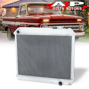 3 row core Performance Radiator Assembly For 1961 1966 Chevy C k Pontiac Pickup