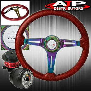 Metallic Red Neo Chrome Steering Wheel For 94 01 Integra Red Quick Release