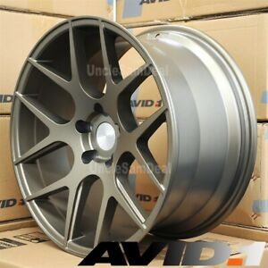 Staggered 5x114 3 18x8 5 18x9 5 Avid 1 Av 30 Matte Bronze 12 Spokes 4 Wheels Set