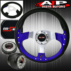 Quick Release Hub Adapter For 96 05 Civic Blue Fusion Style Steering Wheel