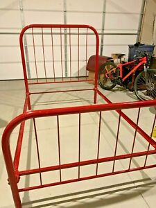Vintage Antique Rod Iron Bed