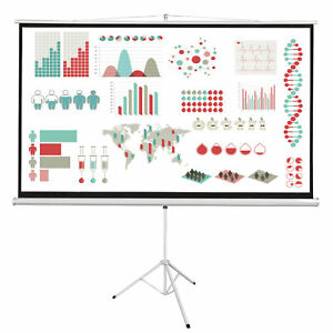 100 Portable 16 9 Projector Tripod Projector Screen Indoor And Outdoor Pull Up