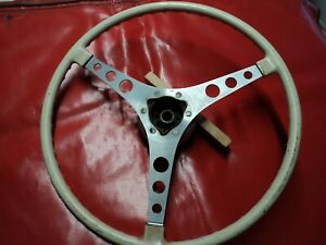 Corvette 1956 1957 Beige Steering Wheel W Hub Will Fit 1958 1962 Too