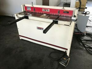 Used Jet 52 X 16 Gauge Pneumatic Shear With Back Gauge Ps 1652t