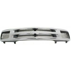 Grille Shell For 94 97 Chevrolet S10 95 97 Blazer Silver Plastic