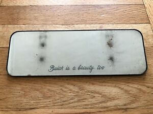 Buick Is A Beauty Too Vintage Visor Clip On Etched Vanity Mirror Sun Visor