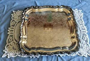 Vintage Sheridan Silver Plate Serving Tray
