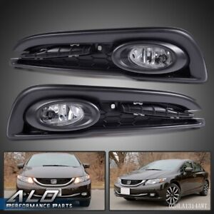 For 2013 2015 Honda Civic 4dr Sedan Clear Bumper Driving Fog Lights switch