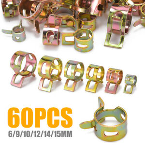 Us 60pcs Spring Clips Fuel Hose Line Water Pipe Air Tube Clamp 6 9 10 12 14 15mm