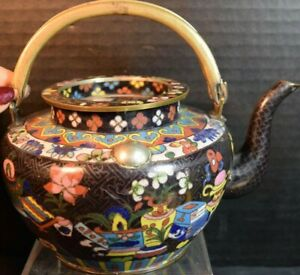 Chinese Champleve Cloisonne Antique Teapot