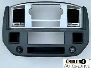 2006 08 Dodge Ram 1500 2500 3500 Cd Radio Dash Bezel Trim Vents Oem Silver black